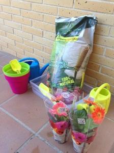 Todo preparado para mis jardineritos.